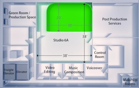 Studio 6A floor plan