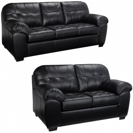 Black Stage Sofa and Loveseat - S