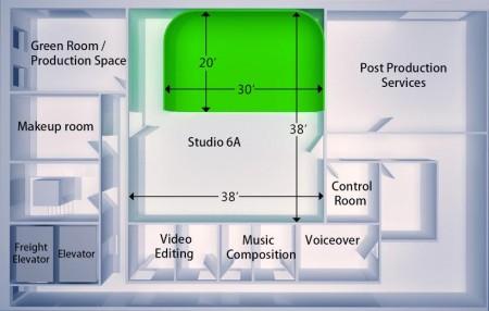 Green screen Studio 6A - Big Apple Studios