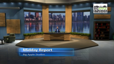 Midday Report Virtual Set - Extra Wide - Big Apple Studios - Thumbnail